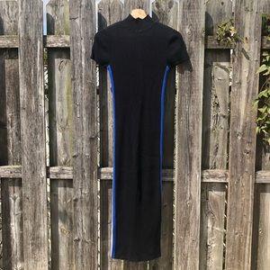 Zara side stripe sweater dress